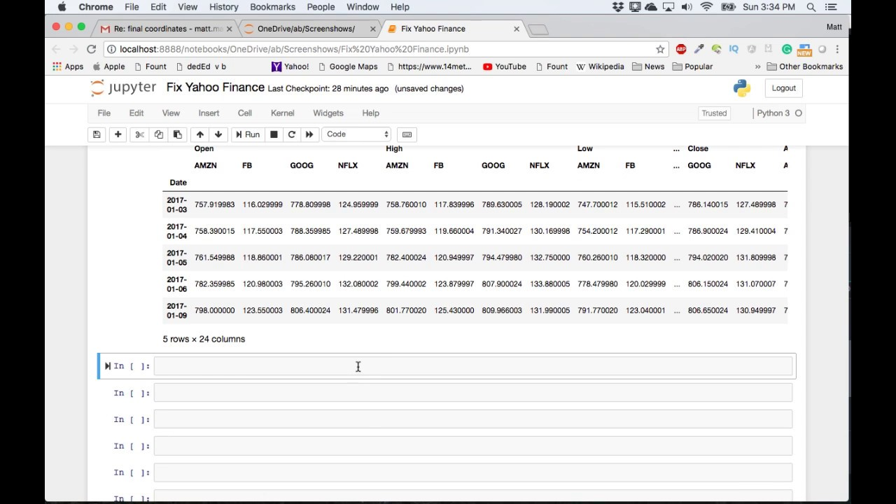 Pandas Datareader Yahoo Finance Workaround: fix-yahoo-finance