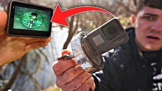 Нашел на дне озера жуткие кадры с GoPro с помощью огромного магнита