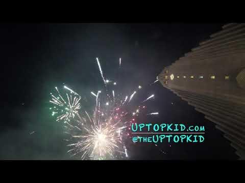 UpTopKid | 2018 New Year's Eve Fireworks in Reykjavik, Iceland | Hallgrimskirkja Church