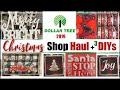 DOLLAR TREE CHRISTMAS 2019 | Dollar Tree Christmas DIY Decor + Shop With Me & Haul