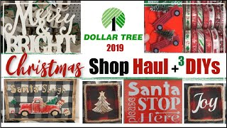 DOLLAR TREE CHRISTMAS 2019 | Dollar Tree Christmas DIY Decor + Shop With Me & Haul
