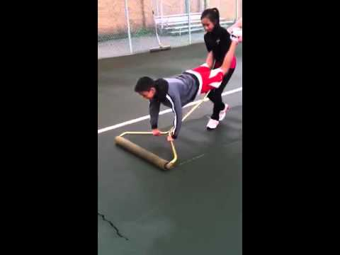 Human Tennis Court Squeegee Youtube