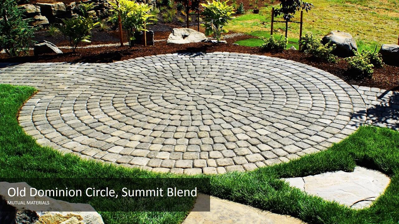circulular patios with mutual materials circle kits old dominion paver
