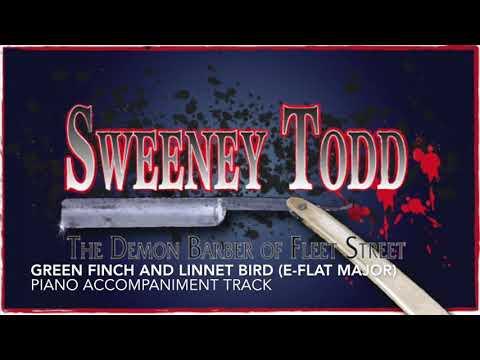 Green Finch and Linnet Bird (Eb Major) - Sweeney Todd - Piano Accompaniment/Karaoke Track