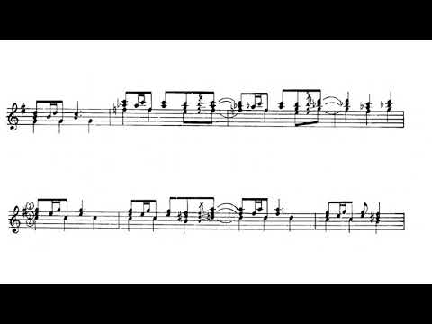 Violeta Parra - Anticuena No. 4 for Guitar (Score video)