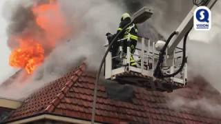 Huisdieren gered bij felle brand in woning Waalwijk