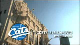 Fort Worth Cats Baseball Commercial   Bass Hall