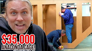 BUILDING A $35,000 ANACONDA CAGE!! SHE UNBOXED SNAKES WITHOUT ME!! | BRIAN BARCZYK