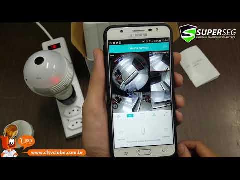 Câmera Lâmpada 360º - 4 formas de configurar a sua!