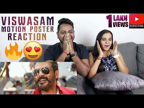 Viswasam Motion Poster Reaction | Malaysian Indian Couple | Ajith Kumar | Nayanthara
