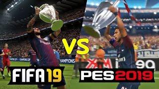 Fifa 19 vs pes 2019 | uefa champions league ( ps4 / xb1 / pc )