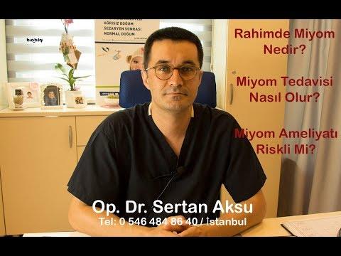 RAHİMDE MİYOM NEDİR - MİYOM AMELİYATI VE SONRASI - Op. Dr. Sertan Aksu Anlatımı ile Miyom