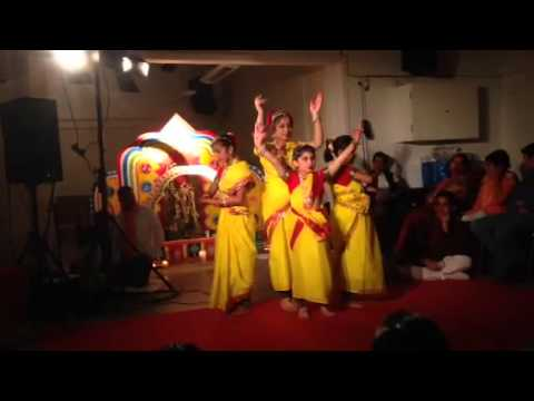 Jay Jay Hey Bhagwati by Deepshikha's Kids Dance Group@Saraswati puja 2015 BCAS Denmark