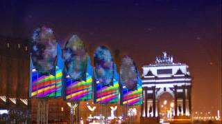 Видео флагштоки у Триумфальной арки.(Видео флагштоки с возможностью вывода видео изображения на светодиодные экраны., 2009-06-05T22:31:34.000Z)