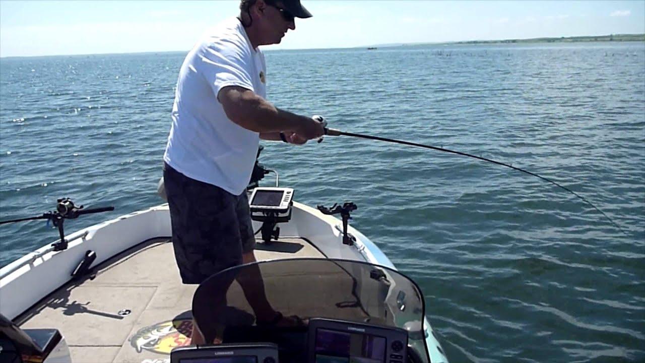 Lake sakakawea fishing in north dakota july 2013 youtube for Lake sakakawea fishing report
