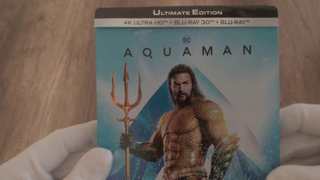 AQUAMAN ''Ultimate Edition'' 4K + 3D + Blu-ray Steelbook