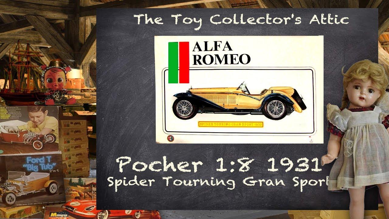 Pocher 1//8 Alfa Romeo 8C 2300 Touring Monza Metal Engine Crank W// Handle