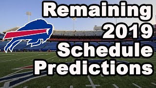 Predicting the remainder of the Buffalo Bills 2019 Schedule