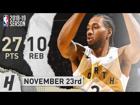 Kawhi Leonard Full Highlights Raptors vs Wizards 2018.11.23 - 27 Points, 10 Reb