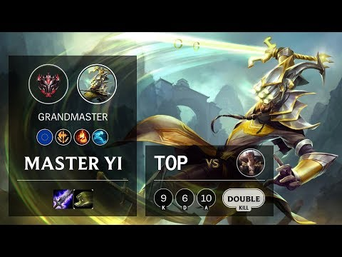 Master Yi Top Vs Sett - EUW Grandmaster Patch 10.6