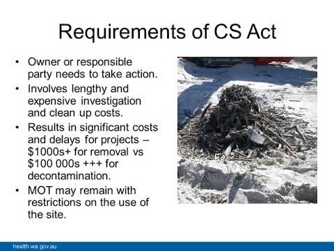 Asbestos removal and disposal and public health