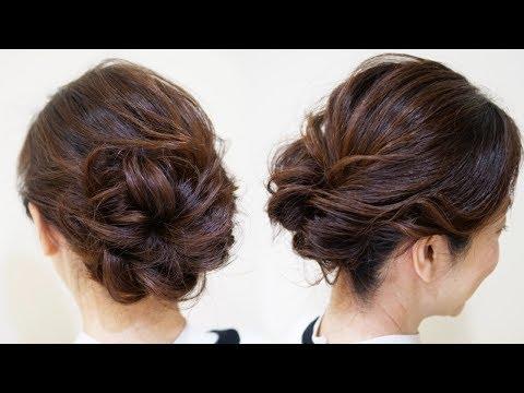 ☆簡単なループのお団子のまとめ髪ヘアアレンジ!初級レベル!bridal-updo-tutorial.-wedding-prom-hairstyles-for-long-hair.