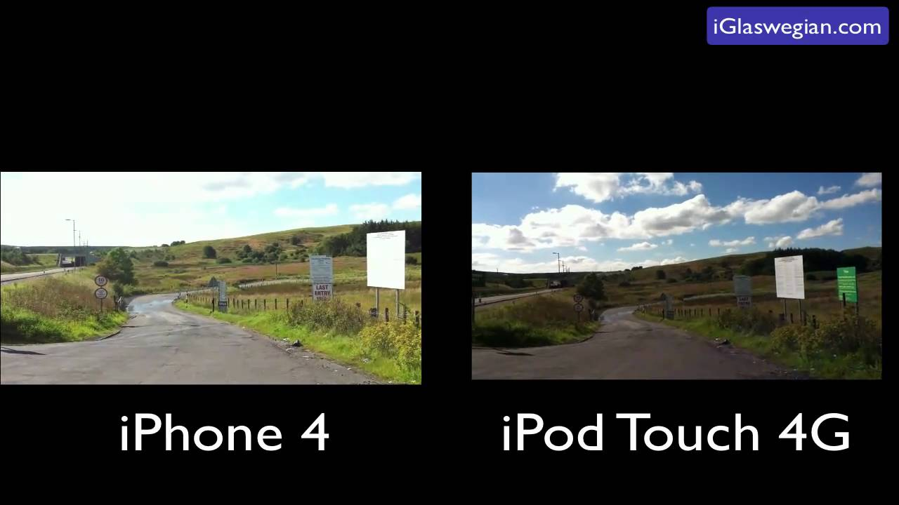 iPod Touch 4G Camera VS iPhone 4 - YouTube