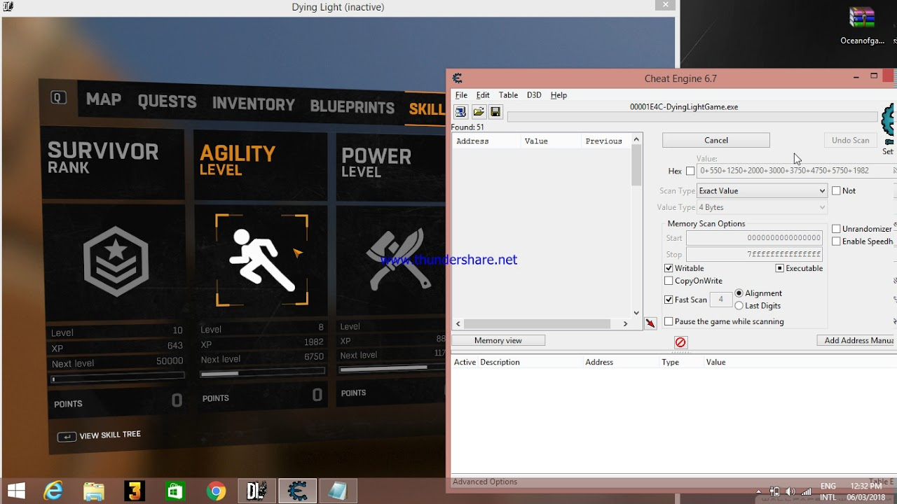 Unlimited skill points in dying light(Cheat Engine)