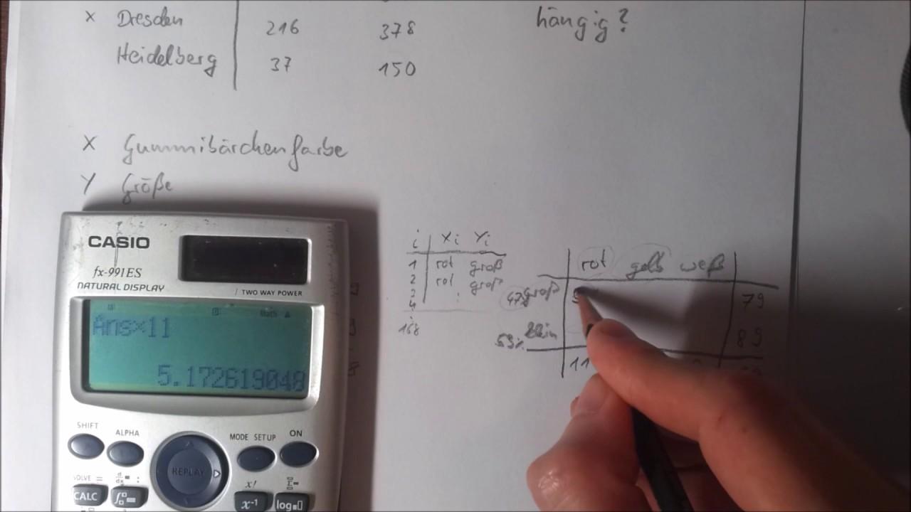 statistik aufholkurs chi quadrat berechnen youtube. Black Bedroom Furniture Sets. Home Design Ideas