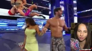 WWE Smackdown 5/9/14 Fandango KISSES Layla Vs Emma And Santino Live Commentary