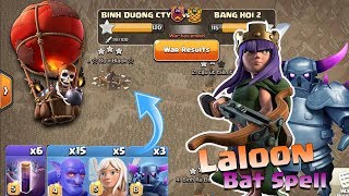 Pekka Bow Bat Spell With Queen Nice Attack War VN | 3 Stars War TH12 | Clash of Clans