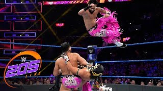 The Lucha House Party vs. The Singh Brothers – Tornado Tag Team Match: 205 Live, July 2, 2019