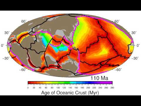 Oceanic Crustal Age and Evolution of plate boundaries, 230 - 0 Ma