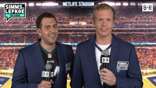 Imagine If Giants and Eagles Homers Took Over The TNF Booth | Simms & Lefkoe