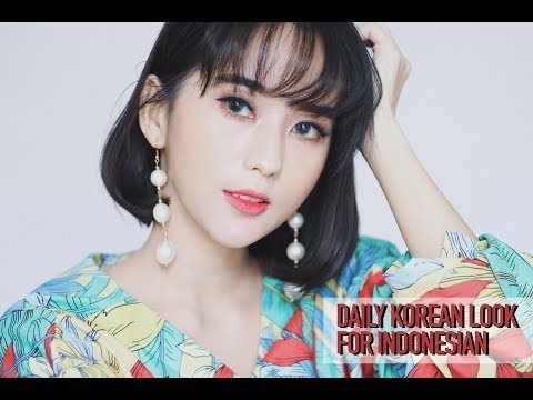 DAILY KOREAN LOOKS FOR INDONESIAN ( ONE BRAND MAKEUP TUTORIAL : CLIO COSMETICS )