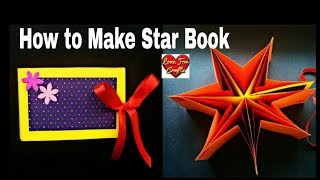Video How to Make Star Book | DIY | Mini Album Tutorial download MP3, 3GP, MP4, WEBM, AVI, FLV Maret 2018