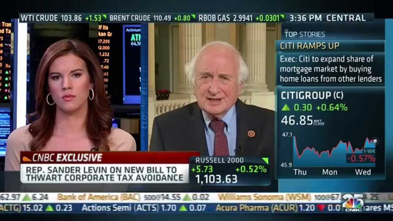 Rep. Sandy Levin on CNBC Closing Bell to discuss corporate ...
