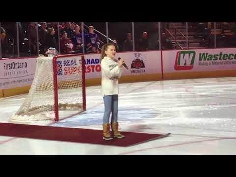 Star Spangled Banner & O' Canada sung by 11 year old Sienna Rose