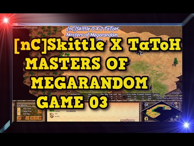 Age of Empires 2 nCSkittle X TaToH Game 03MoMR Round1 AoE2HD Gameplay PT BR