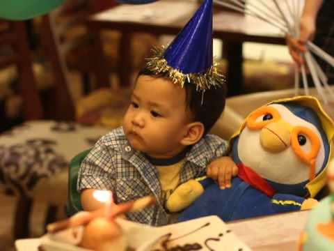 Joaquins's first birthday (Bigby's crew singing the birthday song)