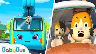 Crane and Tow Truck Rescue Team | Monster Truck, Fire Truck | Kids Songs | Kids Cartoon | BabyBus