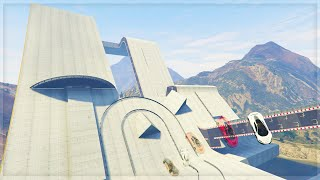 A GIANT SKATE PARK!! (GTA 5 Online Funny Moments)