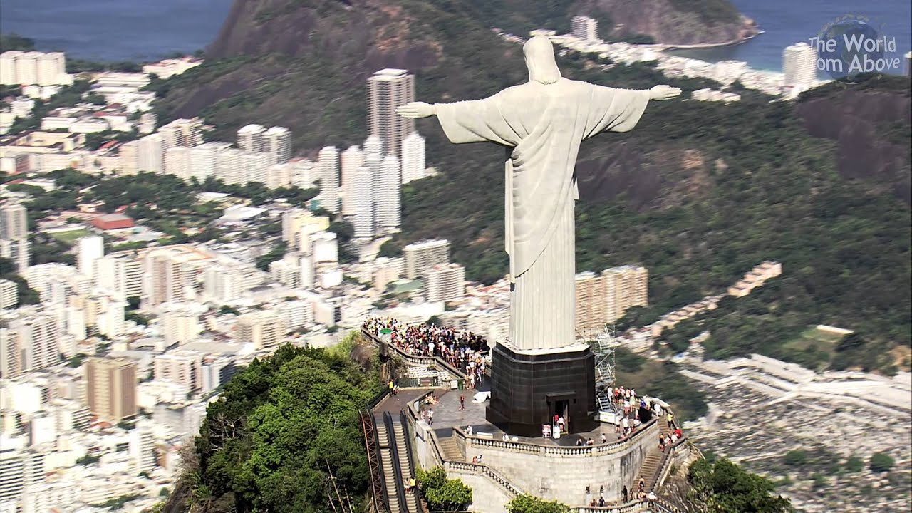 Image result for christ the redeemer from above""