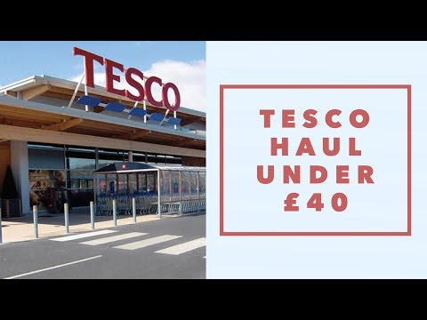 Weekly Tesco Family Food Shop under £40! &Meal Plan! Amy being mum #momlife