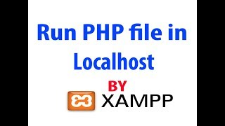How to run php or html file in localhost | YouTube Crackbox