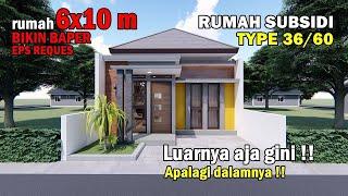 Inspirasi Desain Rumah Subsidi Type 36 60 Tahun 2020 Youtube