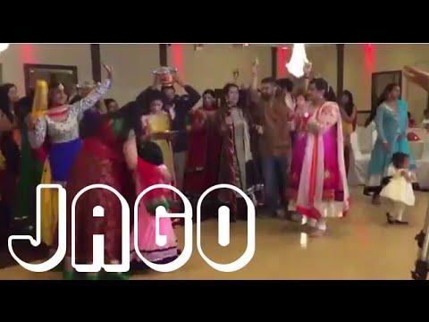 Indian Punjabi Wedding Jago Celebration - Song Dance Jago Aayi Aa Malkit Singh Jago Aaya