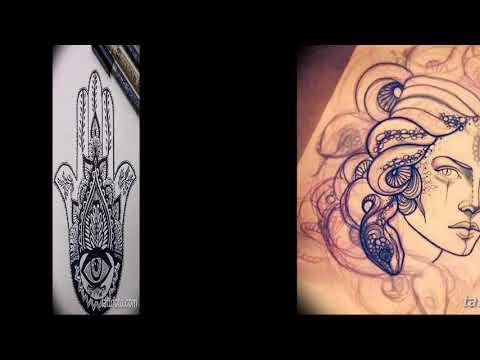 Эскизы тату оберегов - коллекция интересных рисунков для защитной татуировки