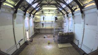 Timelapse: preparing the meditation hall for our Buddha statue