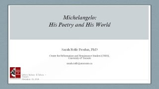 MICHELANGELO: HIS POETRY AND HIS WORLD